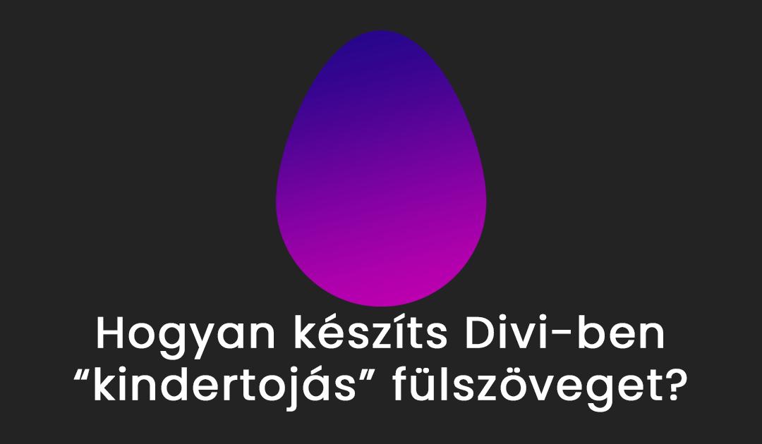DIVI fülszöveg dizájn wordpressben css nélkül